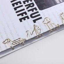 Clipes de papel especiais-em forma de ouro clipes de papel kawaii clipes de papel animal dos desenhos animados dos desenhos animados