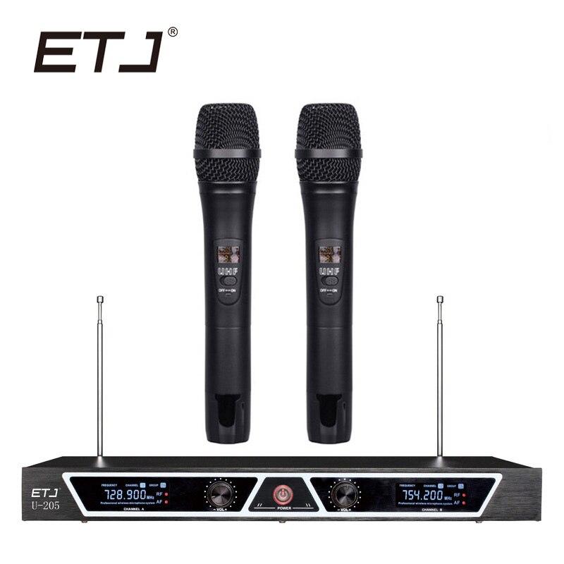 все цены на ETJ Brand Professional VHF Wireless Microphone Changable Handheld Bodypack Headset Lavalier Microphone U-205