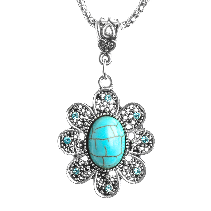 SHUANGR Hot Sale Special Bohemia Style Cute Lovely Flower Pretty Pendant Necklace Sweater Chain