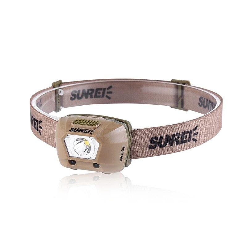 SUNREI LED Smart Sensor Headlamp Headlight 225LM IPX6 Waterproof XPG3 S2 LED 4 Modes Bike Headlamp 3 x AAA Battery hx outdoor dt033 led white light headlamp black 3 x aaa