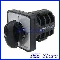 380V AC 220V AC 4 Position Rotary Cam 12 Screw Terminals Changeover Switch
