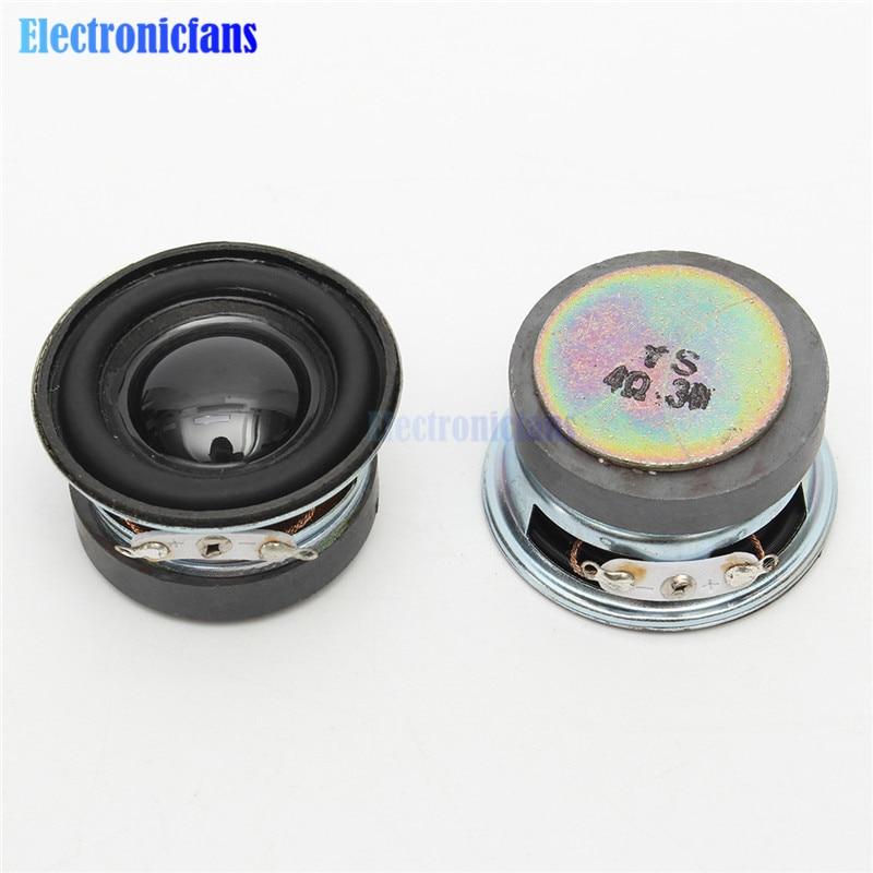 Gorąca sprzedaż 2 sztuk dużo głośnik akustyczny 4 Ohm 3W 40MM głośnik 36MM zewnętrzny magnetyczny czarny kapelusz PU krawędzi elementy akustyczne