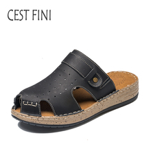 CESTFINI Women Summer Slippers  Soft Women Shoes New Arrival Sandals Open Toe Ladies Leather Slippers #SL002