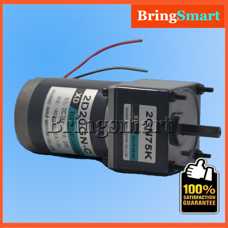 Bringsmart 2D20GN-C DC 12Volt  Gear Motor 20W Powerful 24V Dc Motor CCW/CW Adjustable speed 30kg.cm Torque Electric ReducerBringsmart 2D20GN-C DC 12Volt  Gear Motor 20W Powerful 24V Dc Motor CCW/CW Adjustable speed 30kg.cm Torque Electric Reducer