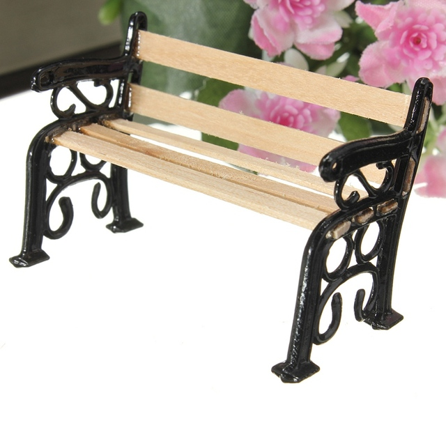 Bench Black Metal  Furniture Accessories For Garden Decor