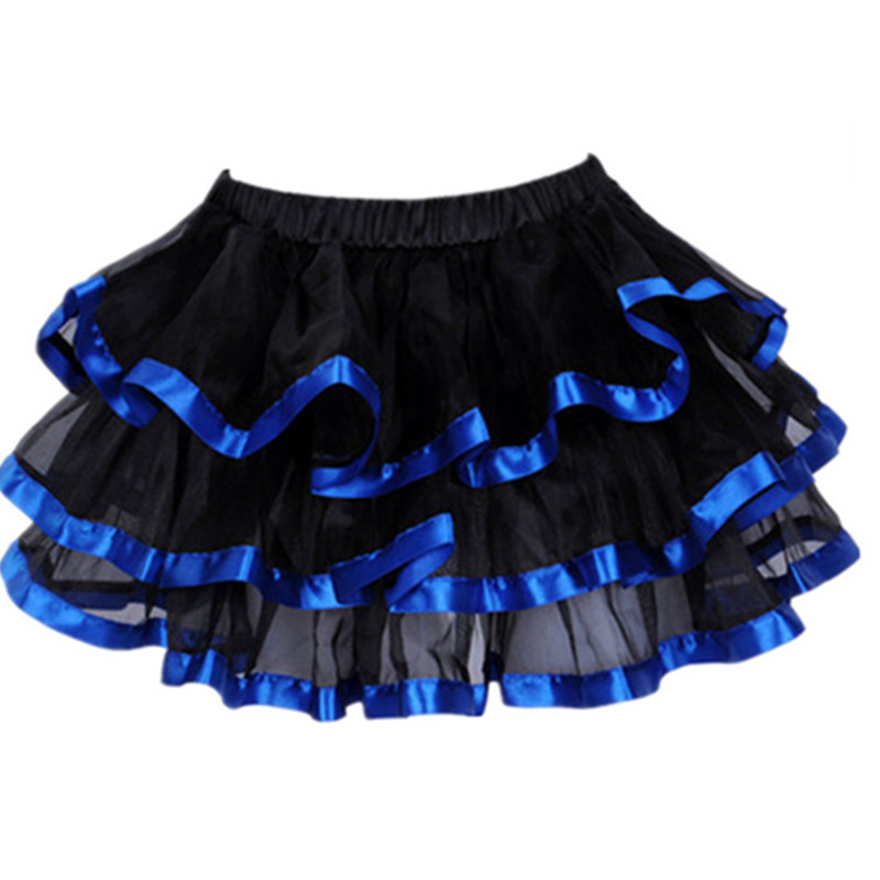 1 pcs Pink Red White Blue Black Womens TuTu Mini Skirt Fancy Mesh Skirts Adult Petticoat fit Corset