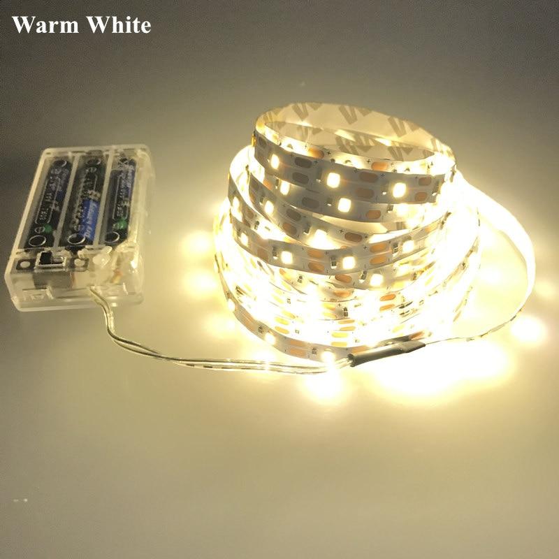 HTB1tzI3BKuSBuNjSsziq6zq8pXaX 3AA Battery powered LED Strip non-Waterproof 3528 60LEDs/M 50CM 1M 2M 3M 4M 5M LED Tape with Battery Box warm white cold white