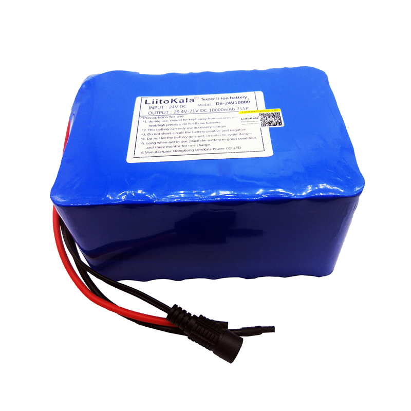Image 5 - HK LiitoKala 24V 10Ah 7S5P 18650 Battery li ion battery 29.4v 8000mAh electric bicycle li ion wheelchair battery pack for 250w-in Battery Packs from Consumer Electronics