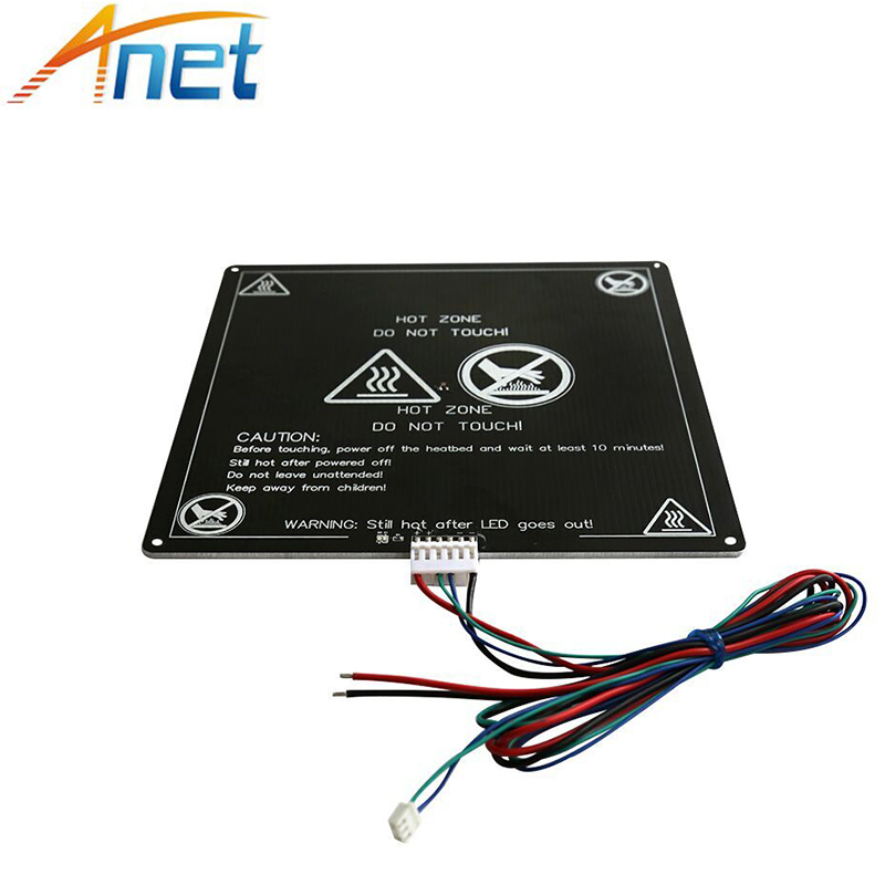 5pcs Anet Heatbed Aluminum Hotbed Heat Bed 220mm*220mm*3mm A6 A8 MK3 12V MK2B&MK2A for Mendel RepRap i3 3D Printer with Cable dc24v cooling extruder 5015 air blower 40 10fan for anet a6 a8 circuit board heat reprap mendel prusa i3 3d printer parts page 4