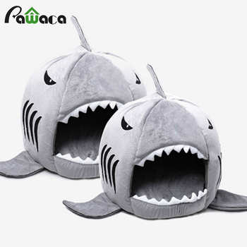 Shark Warm Indoor Kitten Dog Cat Pet Sleeping Sofa Bed Puppy Pet House Mat S/M Size For Dog Cat cama de para cachorro