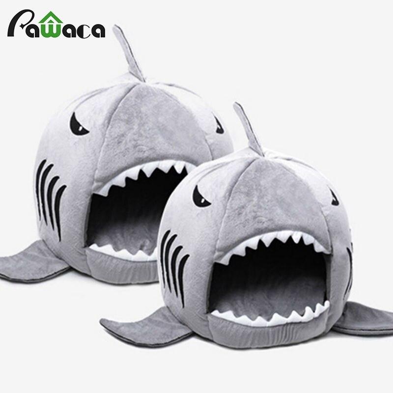Requin chaud intérieur chaton chien chat animal de compagnie couchage canapé-lit chiot animal de compagnie maison tapis S/M taille pour chien chat cama de para cachorro