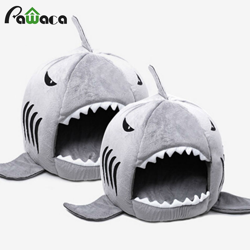 Shark Warm Indoor Kitten Dog Cat Pet Sleeping Sofa Bed Puppy Pet House Mat S/M Size For Dog Cat cama de para cachorro image