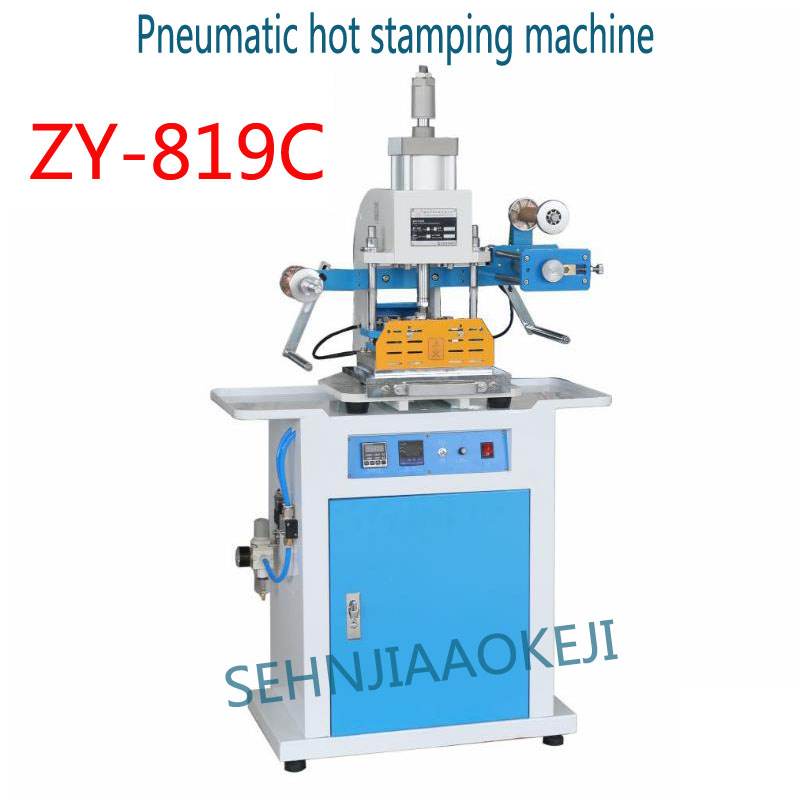 ZY 819 C Pneumatic hot bronzing machine 1000W Vertical leather hot stamping machine Invitation hot stamping machine 220V/110V|Pneumatic Tools| |  - title=