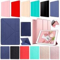 For IPad Mini 1 2 3 4 Case Nice Flexible Soft Back TPU Silicone Case PU