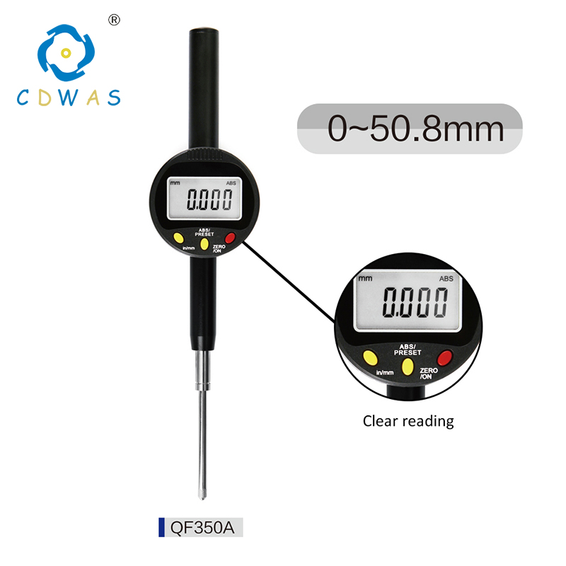 0 50 mm High Precision 0 001mm Digital Indicator Electronic Micrometer Digital Dial Indicator Gauge With Retail Box in Dial Indicators from Tools