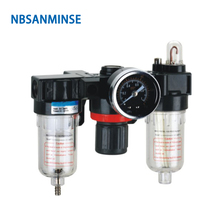цена на NBSANMINSE  FRL Units 1/4 3/8 1/2 AC2000 BC2000 Air Source Units Air Filter Regulator Lubrication Auto Drain