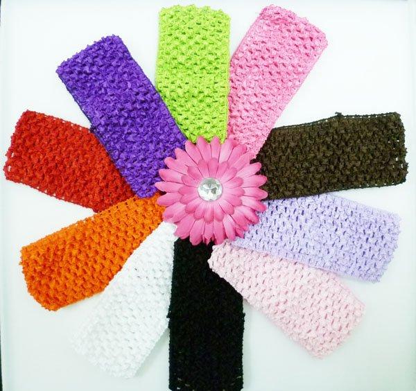"""2,7"""" Широкая вязаная повязка на голову вафельная повязка для малышей 2,75 дюймов 17 горячая распродажа цветов U pick"""