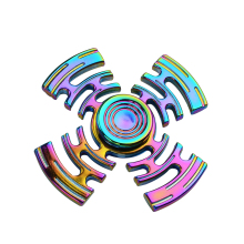 Rainbow Fidget Spinner Metal Maze Pattern High Speed Hand Spinner Spinner Fidget EDC Desk Toy Gyro