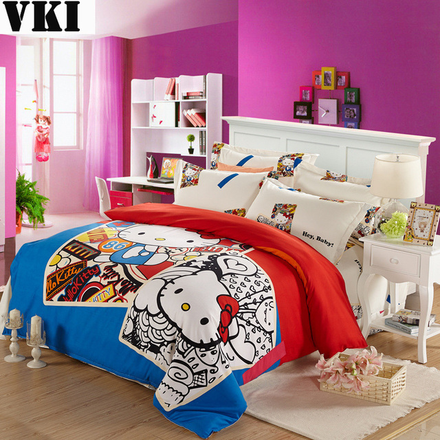 Hallo Kitty Bedclothes Age Bedding Affordable Sheet Bed Sets Duvet Covers Double Cute Bedspreads Sheets For Kids