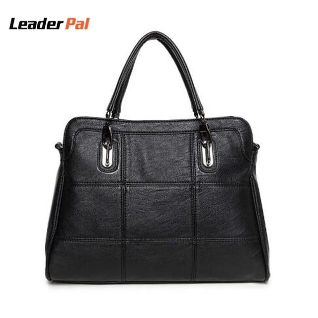 New Arrival 2017 Leather Women Handbags Luxury Female Shoulder Bag Fashion Brand Las Totes Pink