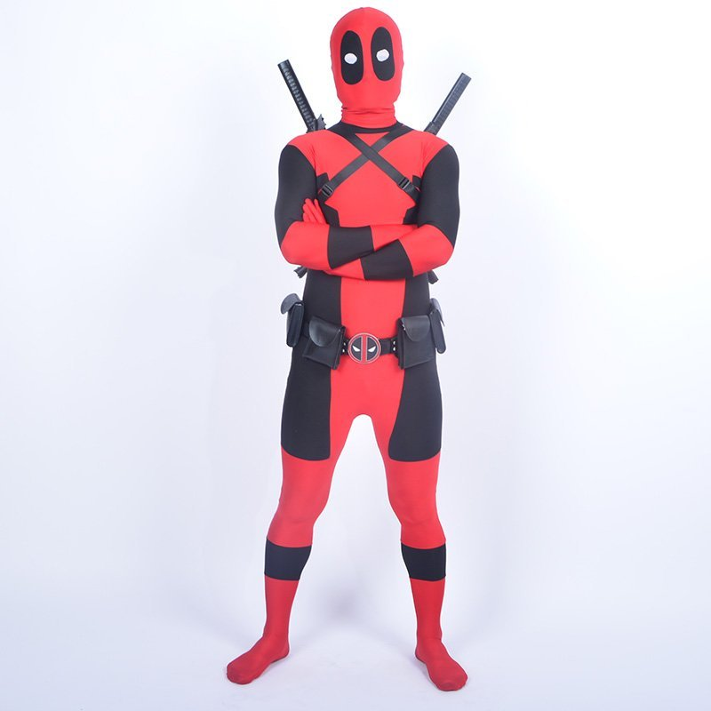 Cool KIds Deadpool κοστούμι κόκκινο πλήρες - Καρναβάλι κοστούμια - Φωτογραφία 2