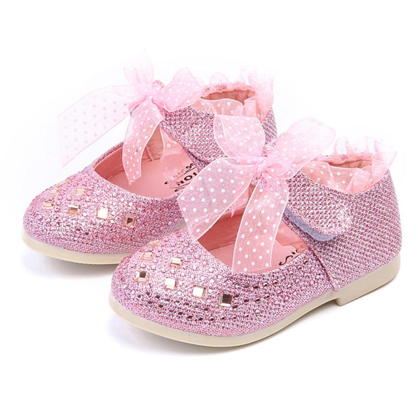 Fashion Children Shoes Kid Baby Girls Shoes Princess Flats Single Shoes Child Lace Diamonds Leather Dancing Shoes Baby Boys Kids