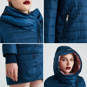 Image 5 - MIEGOFCE 2020 Spring Autumn Jacket With Oblique Cut Bright Womens Jacket Thin Cotton Coat Windproof Warm Knitted Sleeve Jacket