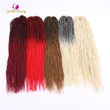 Golden Beauty Folded Senegalese Twist Hair Crochet Braids 20inch Synthetic Crochet Hair Extensions