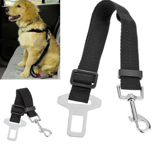 Seatbelt Harness Leash Clip Pet Dog Car Belt Security Keep Your Dog Safe When Drives High Quality Universal Nylon Dog Seat Belt