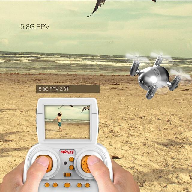 MJX X909T 5.8GHz 4CH 6 Axis Gyro Mini RC Quadcopter Camera Hover Helicopter Drone FPV Real Time Transmission RTF