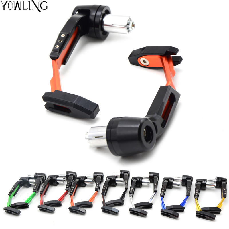 Aluminum Universal 7/8 22mm Motorcycle Proguard System Brake Clutch Levers Protect Guard for kawasaki z1000 Z800 yamaha FJR1300 aluminum universal 7 8 22mm motorcycle proguard system brake clutch levers protect guard for kawasaki z900 z650