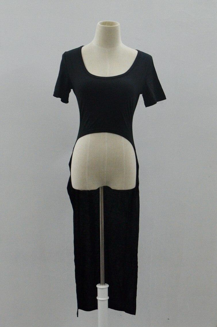 Black t shirt back and front -  Women Side Split Tee Shirt Dress Long Back Short Front Tops T Shirt