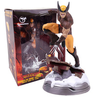 Marvel X Men Wolverine Logan Statue PVC Figure Collectible Model Toy (can exchange haed) 23.5cm