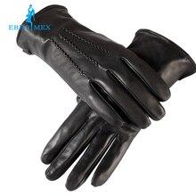 Хорошо продаются Перчатки мужчин, натуральная Кожа, кожа мужские перчатки, мужские черные перчатки, Теплый подкладка, Кожаные перчатки мужчин, бесплатная доставка