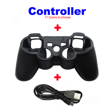 Wireless Bluetooth Game Controller Joystick Gamepad With Protective Silicone Case Cover+USB Cable for PS3