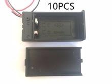 10 PCS 9 V Battery Case Holder Box con Cavo ON/Off Copertura Caso