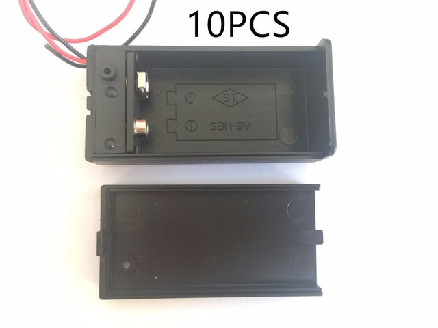 10PCS  9V Battery Holder Box Case with Wire Lead ON/OFF Switch Cover Case