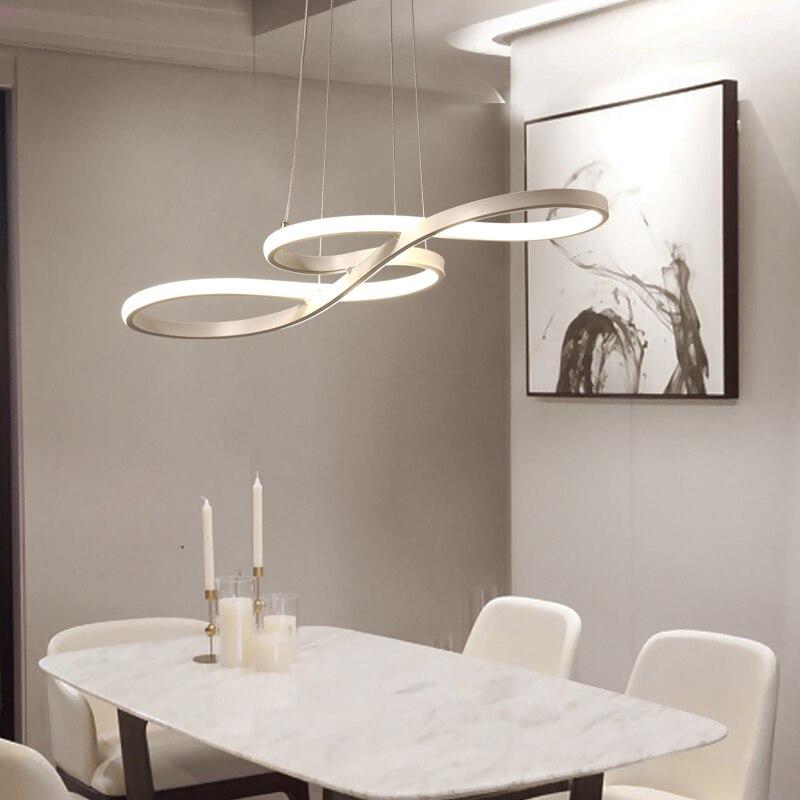 Minimalisme bricolage suspendus lumières de pendentif LED modernes pour salle à manger barre suspension luminaire suspendu suspension luminaire - 4