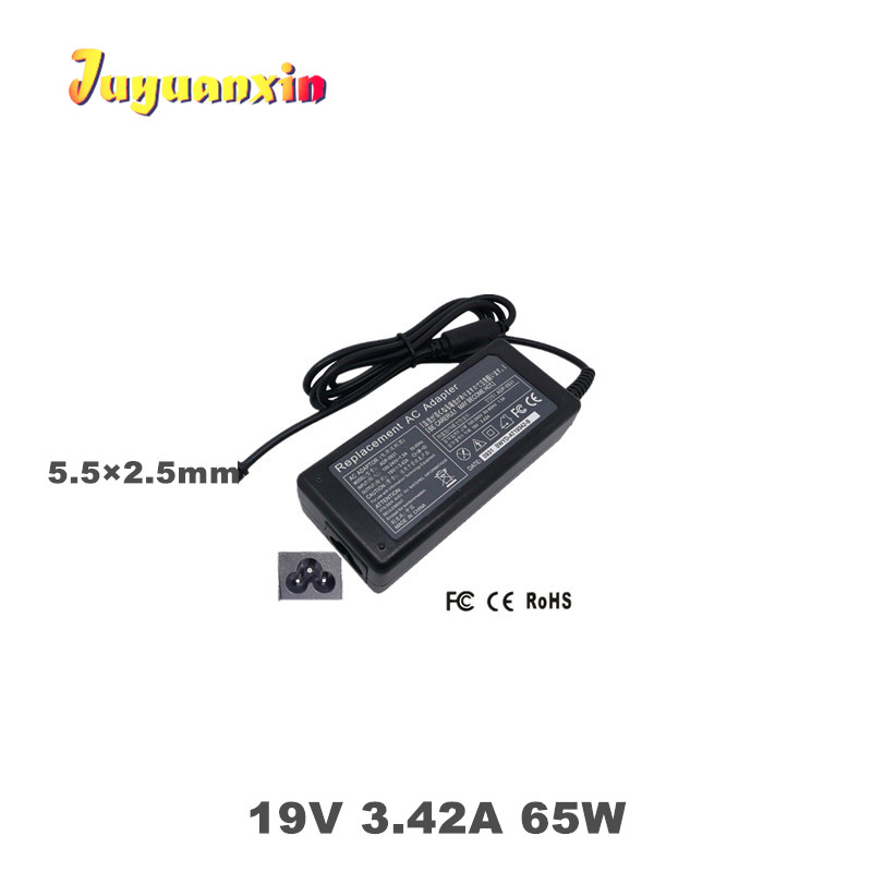 19v 3 42a 5 5 2 5mm 65w ac adapter laptop charger power supply for toshiba satellite l700 l800