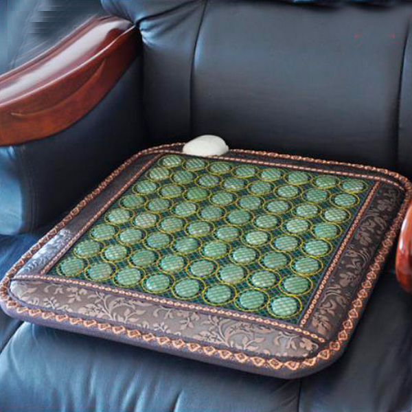 Best Selling Natural Tourmaline Heating Mat Jade health care pad infrared heat cushion!Size:50cmX50cm Free shipping best selling korea natural jade heated cushion tourmaline health care germanium electric heating cushion physical therapy mat
