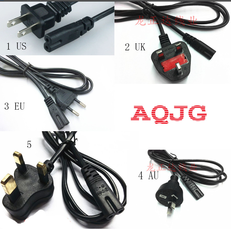 1pcs High quality 2 Prong US EU UK AU Plug AC Power Cord Cable Charge Adapter PC Laptop 1.2M For Computer Printer adapter AQJG us ac power cord cable for laptop adapter lead adapter ac cable 2 prong us plug 1 5m for computer power laptop aqjg