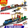 DHL LEPIN 02008 Cargo Train Set Building Blocks Bricks 02009 City Engineering Remote Control RC Train