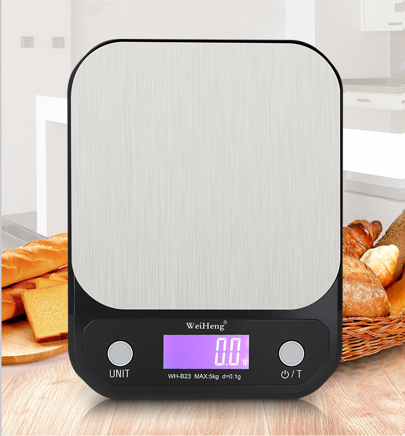 Stainless Steel Digital Kitchen Scale 5Kg/10kg Diet Food Compact Scale Weighing Balance 0.1g For Cooking Baking Measuring Tools