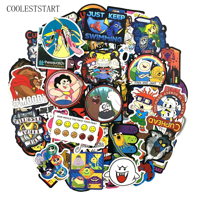 50 Pcs/set Cartoon Character Stickers For Car Styling Motorcycle Phone Skateboards Laptop Luggage Diary Pegatinas Anime Stickers