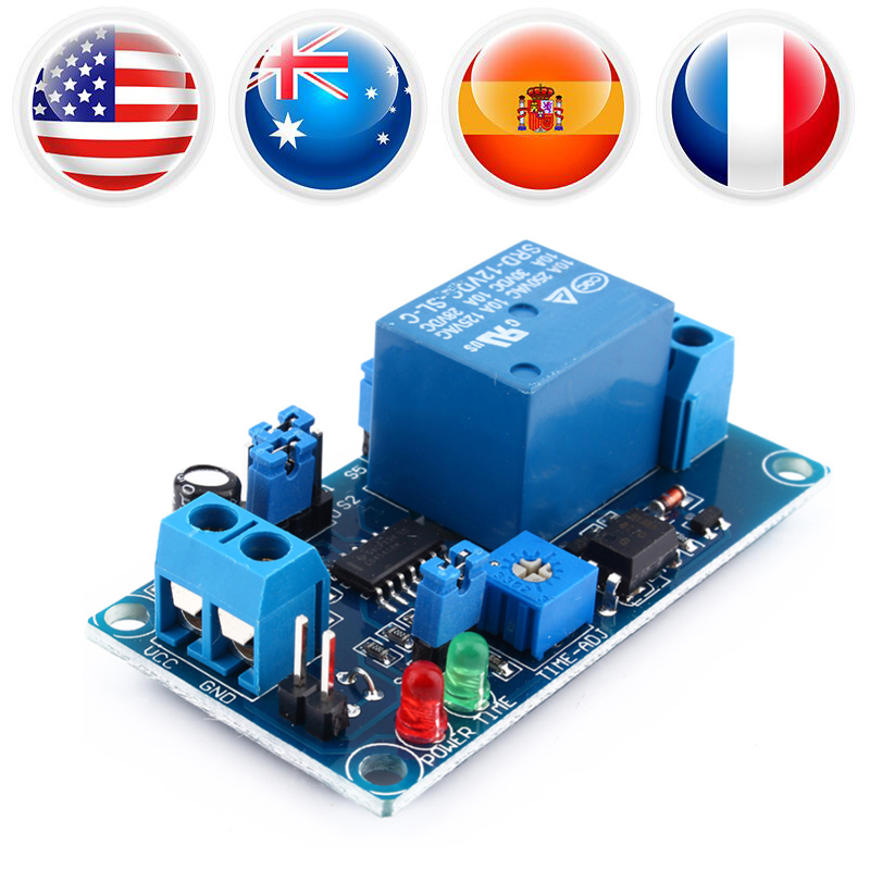 цена на 12V DC Delay Relay Delay Turn off Switch Module w/ Led Timer Electrical Equipment Relay w/ 8 Time Ranges