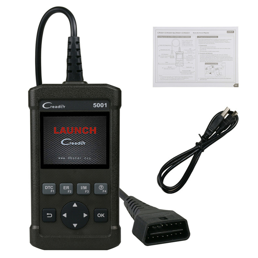 2.8 Original Launch CR5001 OBDII/EOBD Code Reader Support O2 Sensor Test, On-board Monitor Test Auto Code Scan Tool