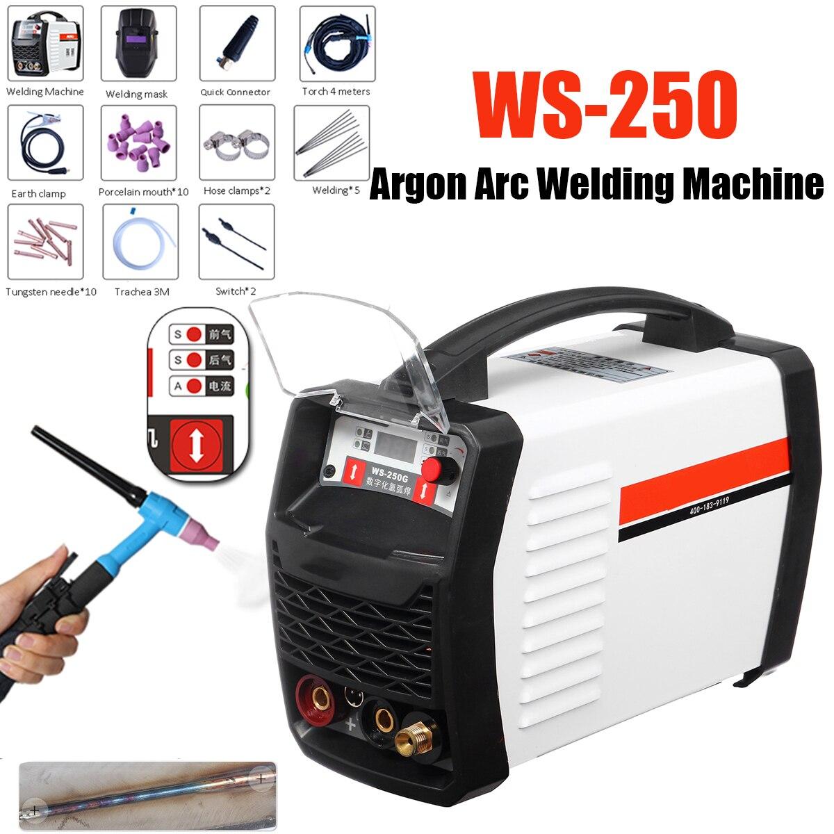 220 v 250A LED Digital Inverter Macchina di Saldatura Ad Arco di Argon WS-250 MOS TIG MMA W anziani per la Saldatura