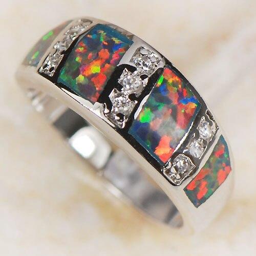 Prix pour En gros et Au Détail de Marque Rouge Opale de Feu 925 Sterling Argent anneau Livraison Gratuite R1105 USA taille 6 7 8 9 nouveau