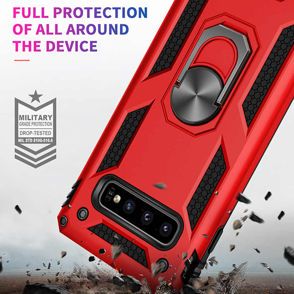 OTAO Ring Holder Case For Samsung Galaxy S10 S9 S8 Plus S10e A7 A6 A8 J5 J7 Car Magnet Case Armor Shockproof Cover For Note 8 9