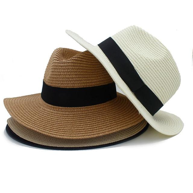 f5e0f48c47d 100% Straw Fashion Women Summer Chapeu Feminino Panama Fedora Hat For  Elegant Lady Queen Travel Floppy Wide Brim Beach Sun Hats